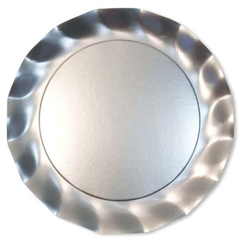 Satin Silver Charger Plates