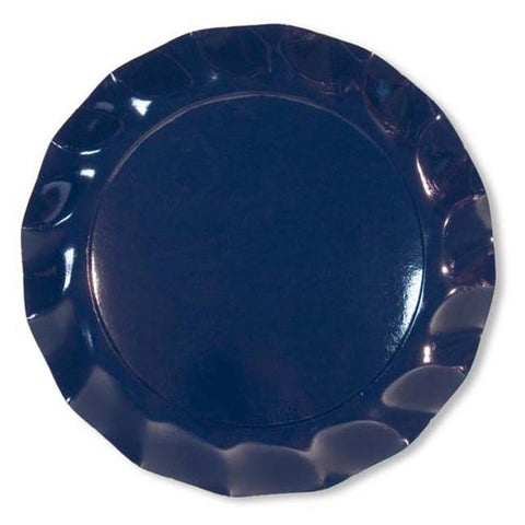 Navy Petalo Charger Plates
