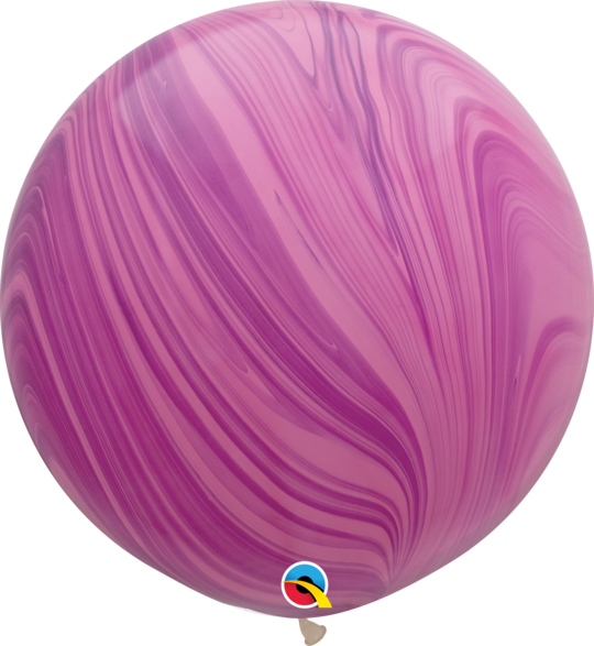 Pink Violet Marble Latex balloon 36""