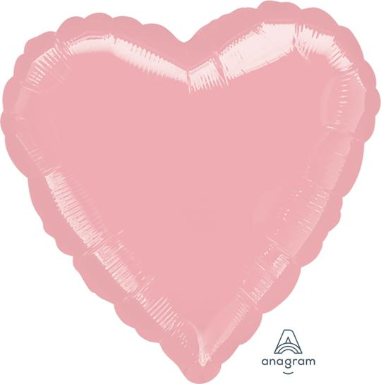 Pastel Pink Heart Balloon 18""