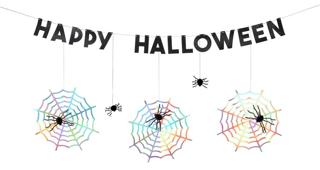 Spooky Spiderweb Garland