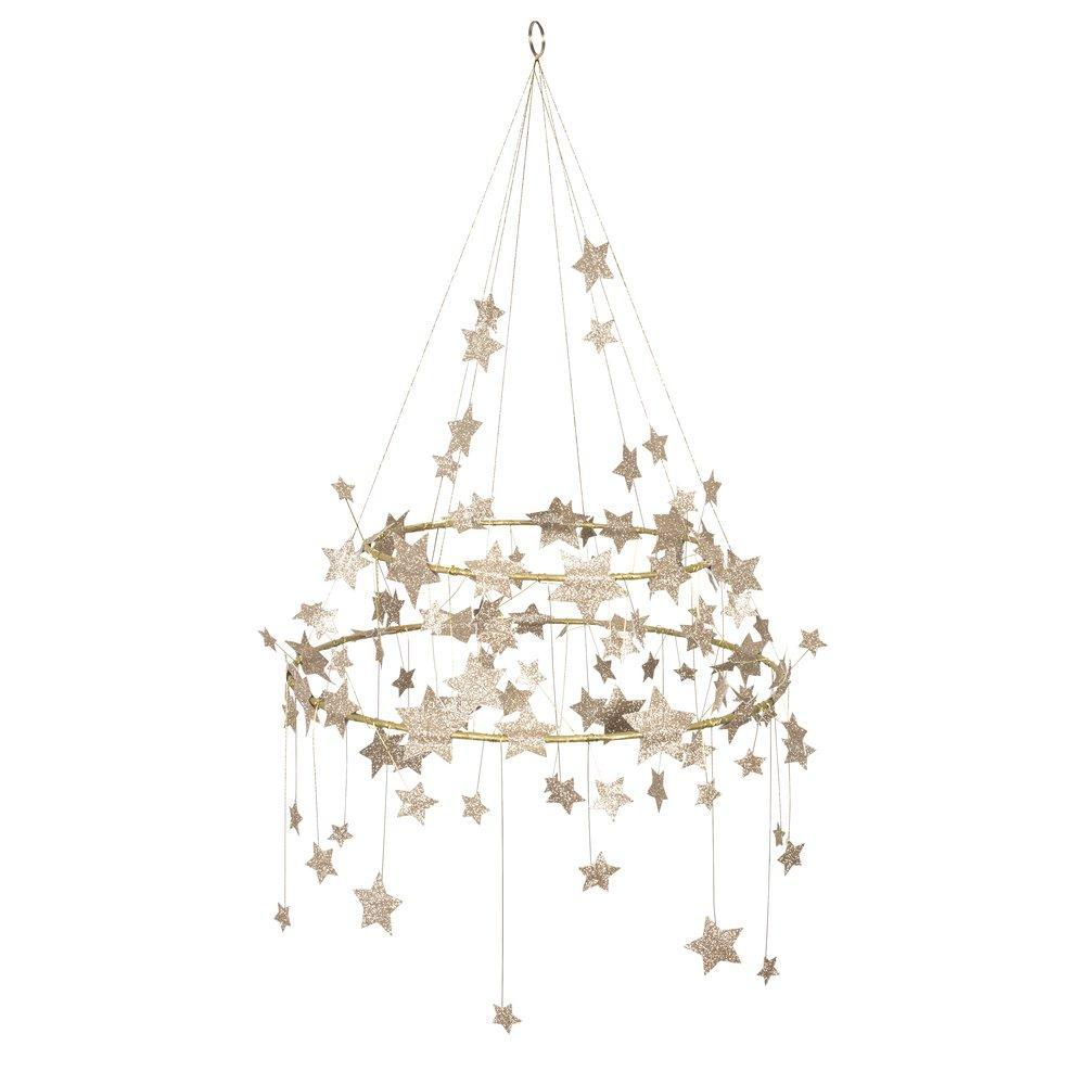 Gold Sparkle Star Chandelier