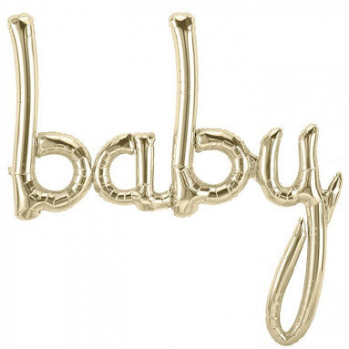 "Gold balloon ""baby"""