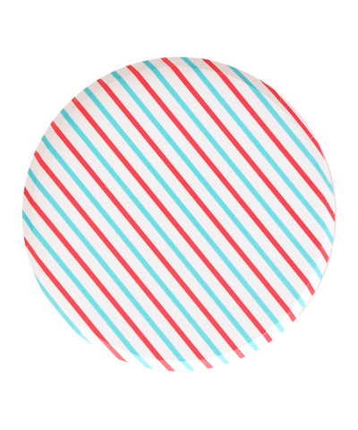 Oh Happy Day Cherry & Sky Stripes Large Plates