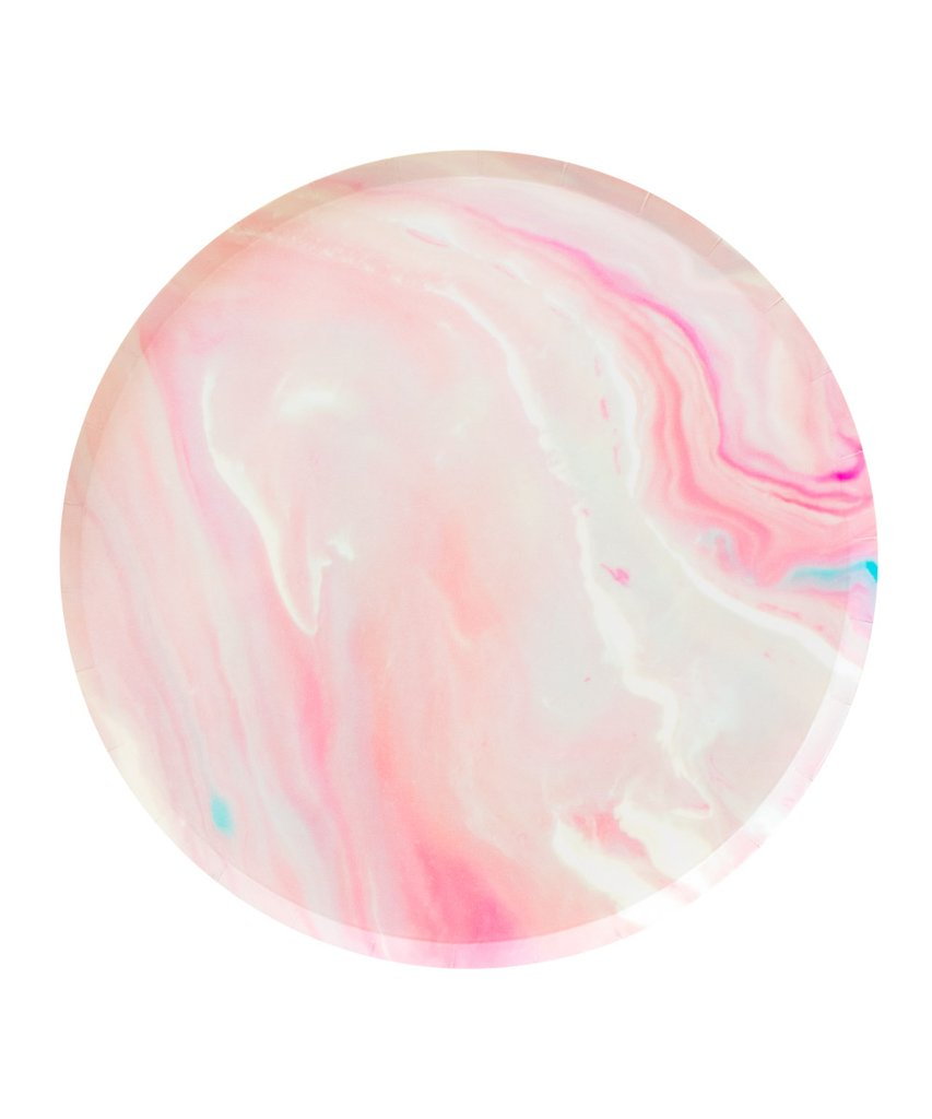 Oh Happy Day Pink Marble Large Plates