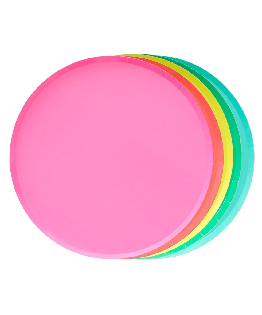 Oh Happy Day Rainbow Set Large Plates