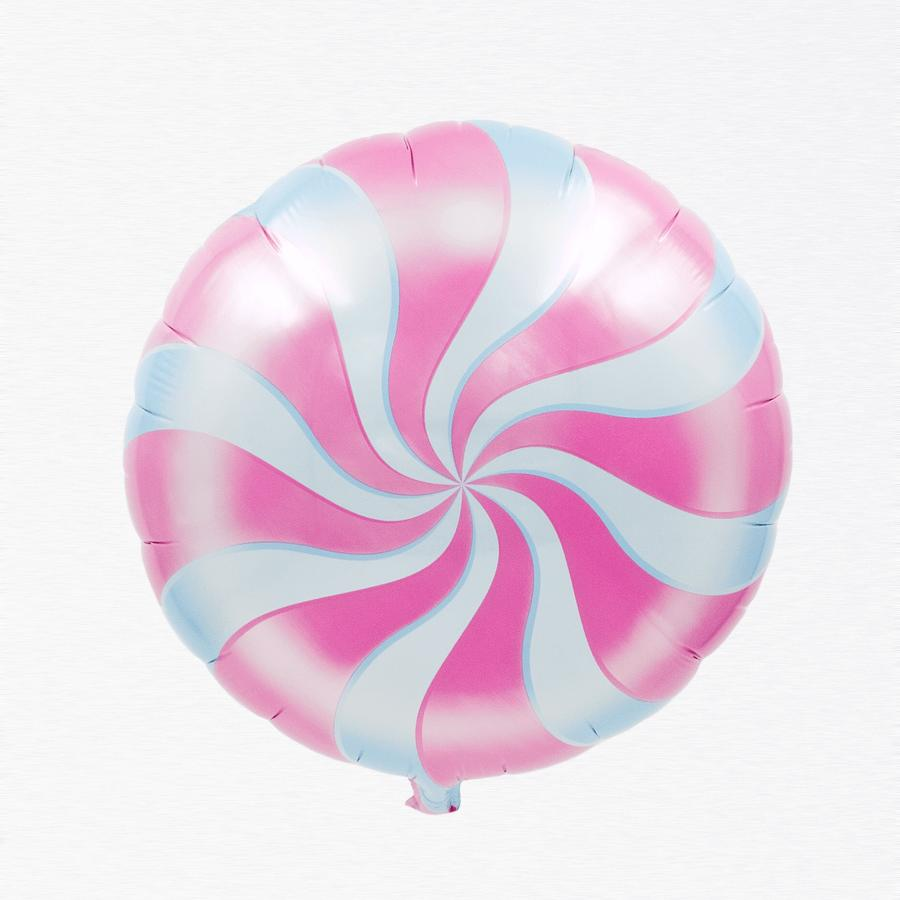 Peppermint Magenta Candy balloon 18""