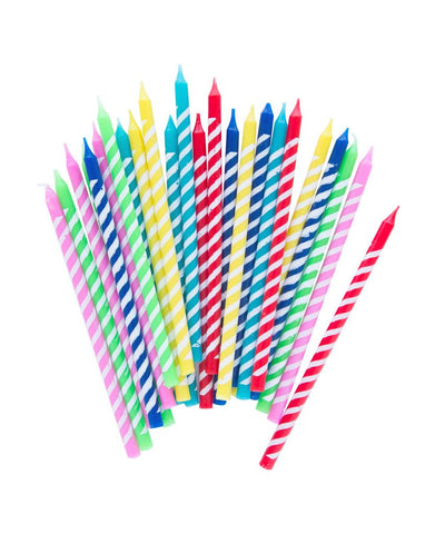 Bright Stripes Party Candles