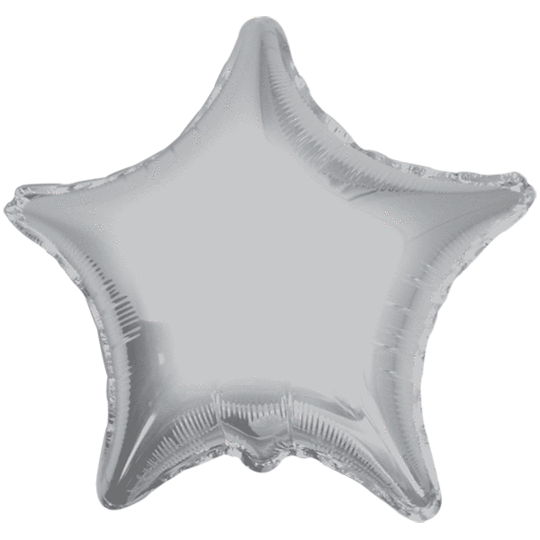 Silver Star Balloon 36""