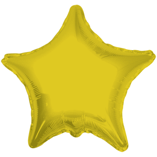 Gold Star Balloon 22""