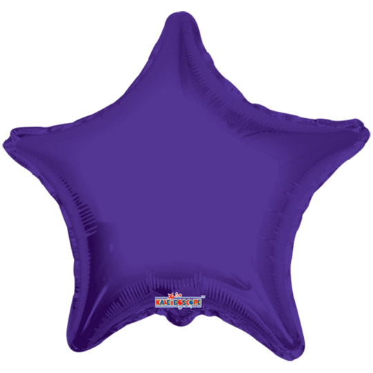 Purple Star Balloon 22""