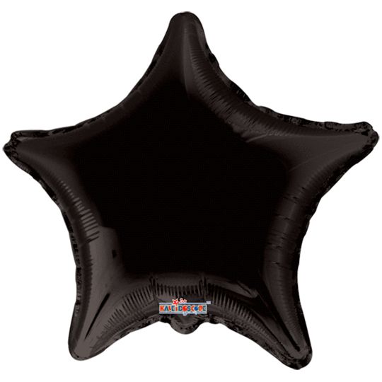Black Star Balloon 22""