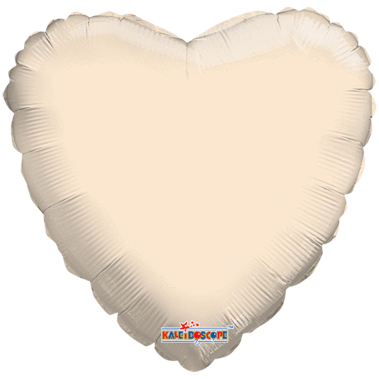 Ivory Heart Balloon 18""