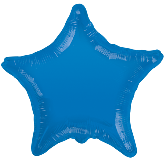 Blue Star Balloon 22""