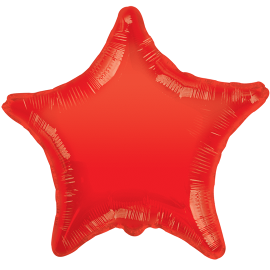 Red Star Balloon 22""