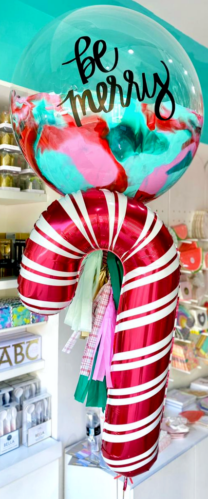 Burbuja Gigante Be Merry + Candy Cane