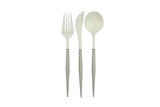 White and Grey 24-pack Assorted Plastic Cutlery