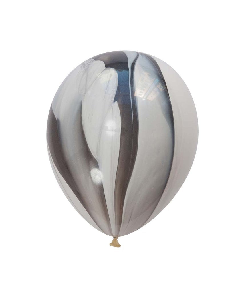 "Black Marble Latex balloons 11"" (10 pack)"