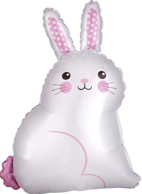 White Satin Bunny Balloon