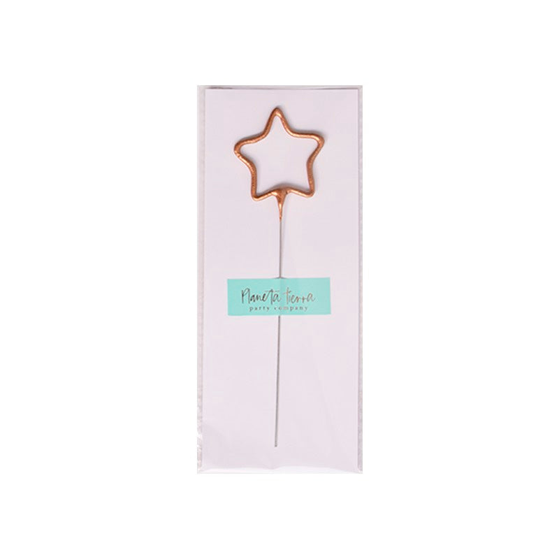 Sparkle Candle Rose Gold Star