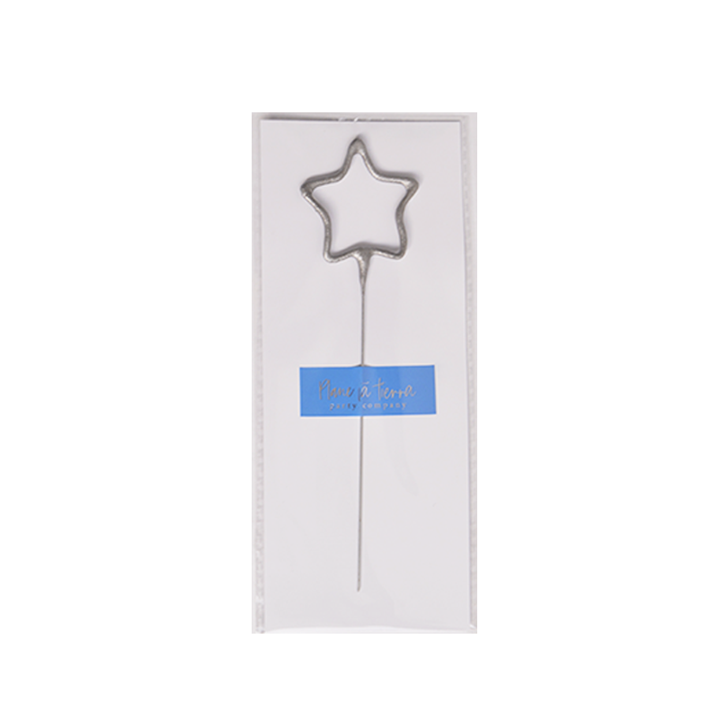 Sparkle Candle Silver Star
