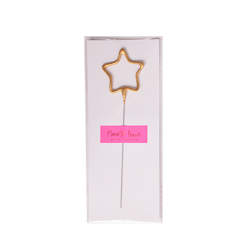 Sparkle Candle Gold Star