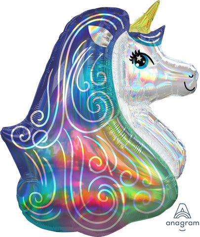 Iridescent Rainbow Unicorn Balloon