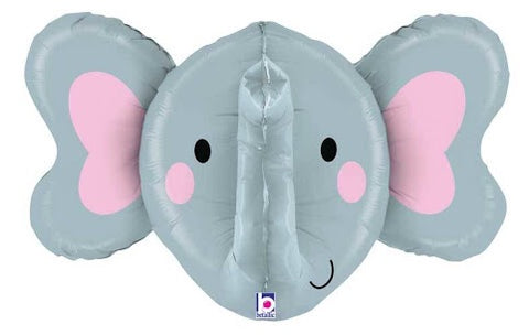 Elephant Head Dimensional Balloon 34""