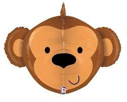 Monkey Head Dimensional Balloon 34""