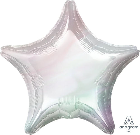 Iridescent Star Balloon 36""