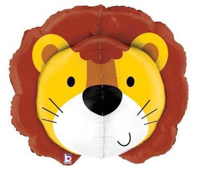 Lion Head Dimensional Balloon 34""