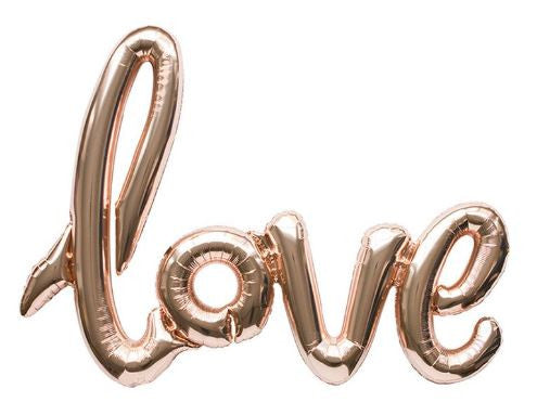 "Rose gold balloon ""love"""