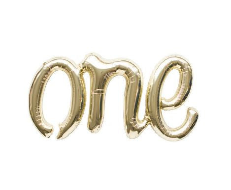 "Gold balloon ""one"""