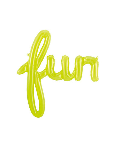 "Neon green balloon ""fun"""