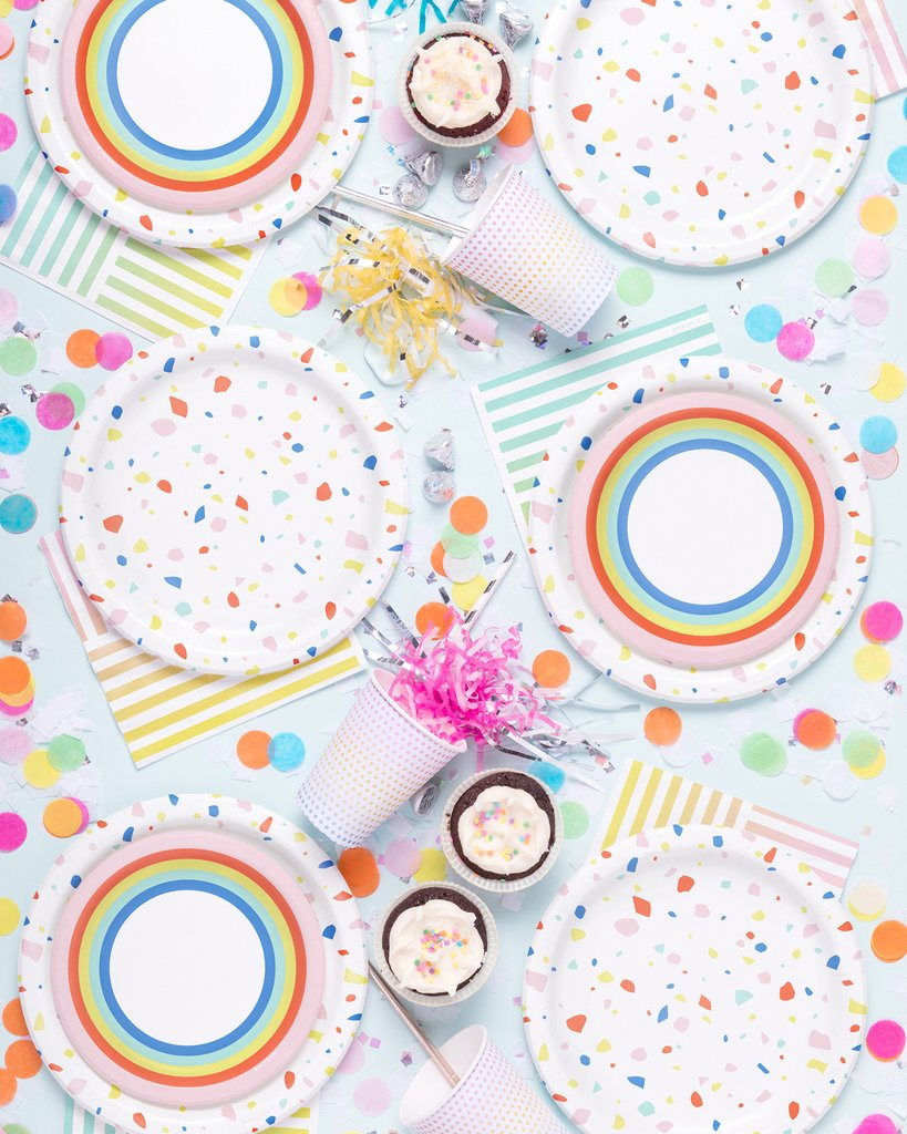Rainbow Dots Party Cups