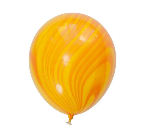 Yellow Marbled Balloons (8 pack)