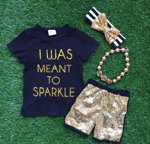 I Was Meant to Sparkle Set with Headband and Necklace