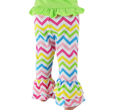 Chevron Customer Favorite Multi Color Ruffle Pants