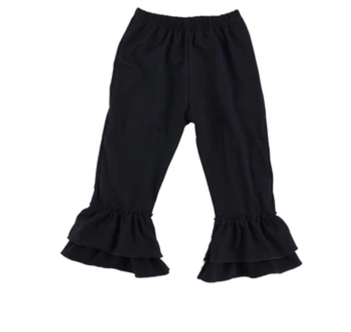 Black Ruffle Pants