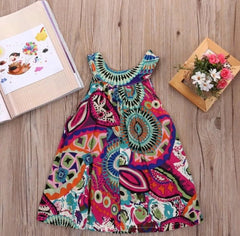 Boho Life Multi Sleeveless Dress with Bow