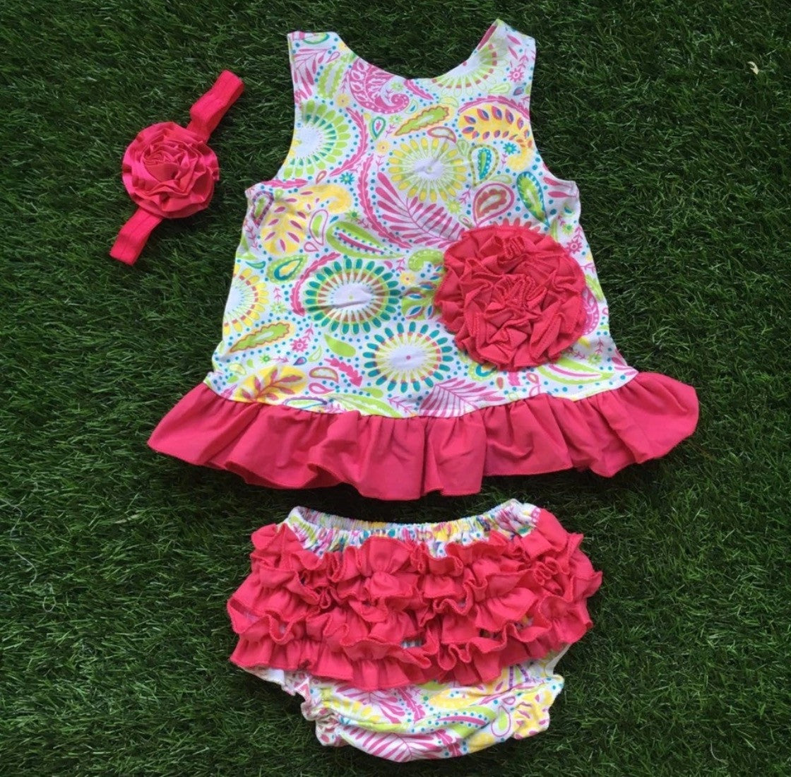 Baby Bunz Tank LaLeePop Multi Color with Headband