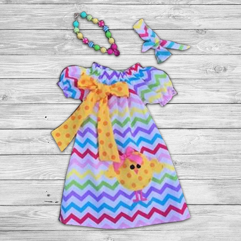 Chevron Chick Dress with Accessories