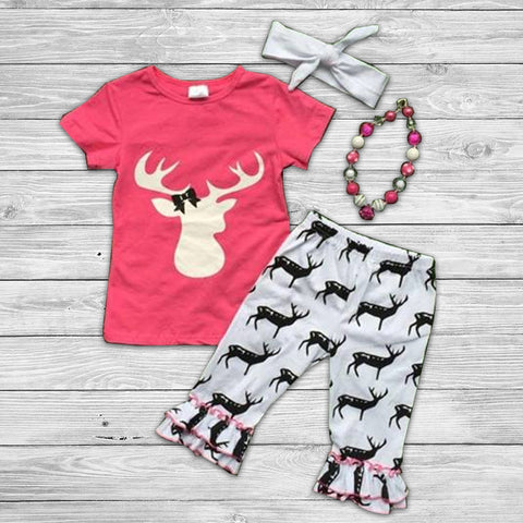 Oh Deer Pant Set with Accessories
