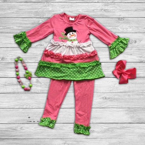 Pink Frosty Pant Set with Accessories
