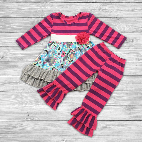 Dawn Pant Set with Bow