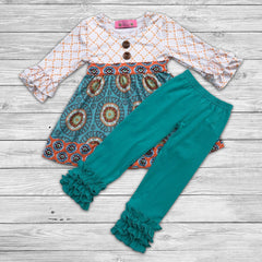 Angelina Pant Set with Bow