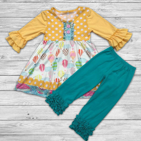 Balloons Pant Set with Bow