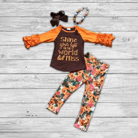 Shine Lil Miss Pant Set with Accessories