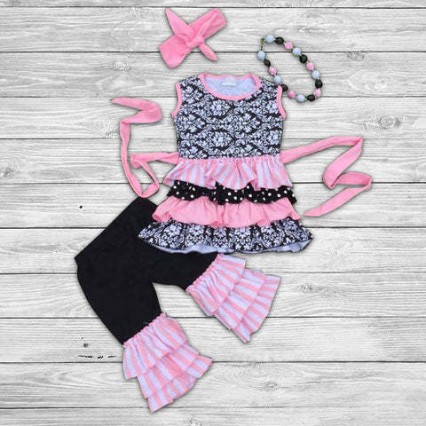 Riley Pant Set with Bow