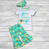 Pineapple of my Eye Pant Set with Bow